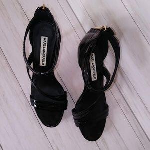 Karl Lagerfeld Shoes - Karl Lagerfeld | Kyra Heeled Leather Sandal